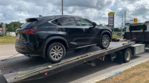 Waterloo regional police have seized the car and licence of a Waterloo stunt driver. (Photo: WRPS) (July 11, 2020)