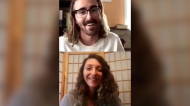 Jessica Gerhardt and her new partner smile during one of the many video chats they had before meeting in person. (Jessica Gerhardt)