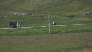 A section of Symons Valley Road N.W. was closed for a number of hours after a head-on crash.