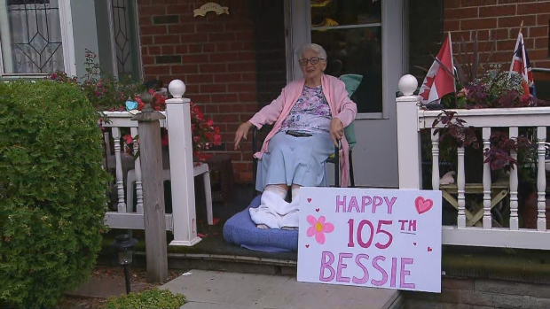 Bessie Stallworthy turned 105 on July 12 and community members helped celebrate her birthday.