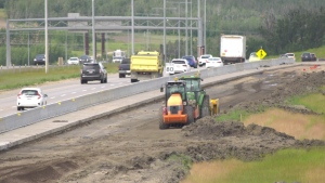 Construction on the southwest section of Anthony Henday Drive is expected to be finished in the fall of 2022. Sunday July 12, 2020 (CTV News Edmonton)