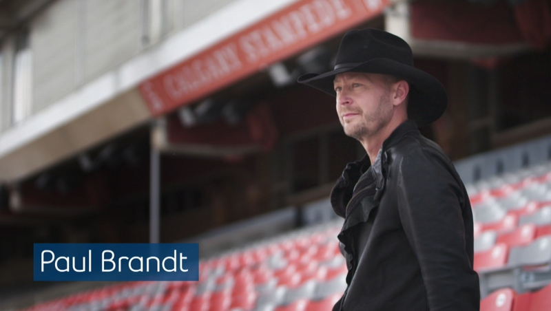Paul Brandt at the Calgary Stampede Grandstand Building (Calgary Stampede)