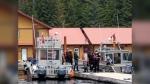 Haida matriarchs protest the reopening of fishing lodges on Haida Gwaii.
