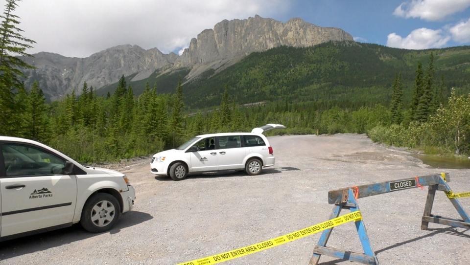 Alberta Parks officials have barricaded the trailhead at Mount Yamnuska after a dangerous weekend. A man died after slipping on loose scree on July 11 and two others were injured near the same section of the trail