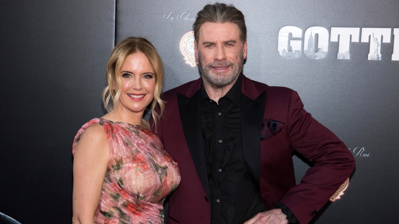 "In this June 14, 2018, file photo, Kelly Preston and John Travolta attend the premiere of ""Gotti"" at the SVA Theatre in New York. (Photo by Charles Sykes/Invision/AP, File)"