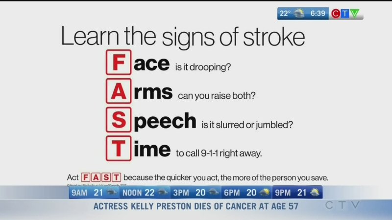 Recognizing and reacting to stroke signs