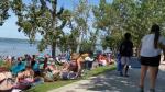 Sylvan Lake beach, crowds