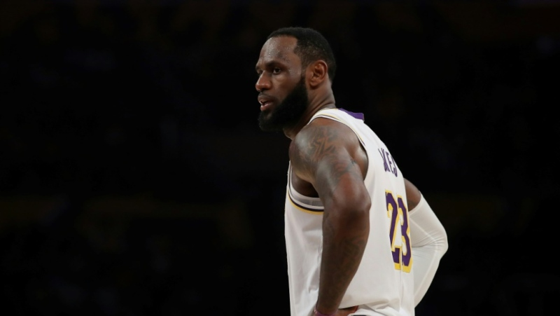 Los Angeles Lakers star LeBron James is among the NBA players offering social media support of suspended ESPN reporter Adrian Wojnarowski. (AFP)