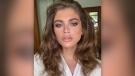 Valentina Sampaio becomes Sports Illustrated's first trans model. (Instagram/valentts/CNN)
