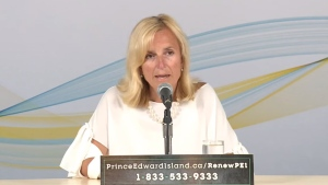 Prince Edward Island Chief Medical Officer of Health Dr. Heather Morrison provides an update on COVID-19 during a news conference on July 13, 2020. (YouTube)