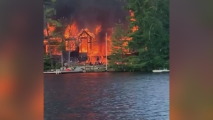 Gravenhurst cottage fire