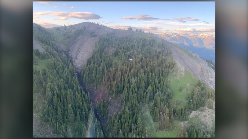 The mountainous region near Invermere, B.C. where a glider crashed July 10, 2020 (Columbia Valley Search and Rescue)