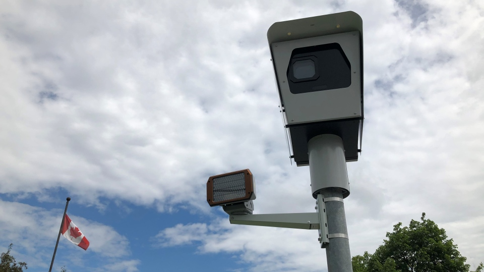 A photo radar camera in Ottawa. (Dave Charbonneau / CTV News Ottawa)