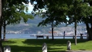 Kelowna's waterfront is seen in this file photo.