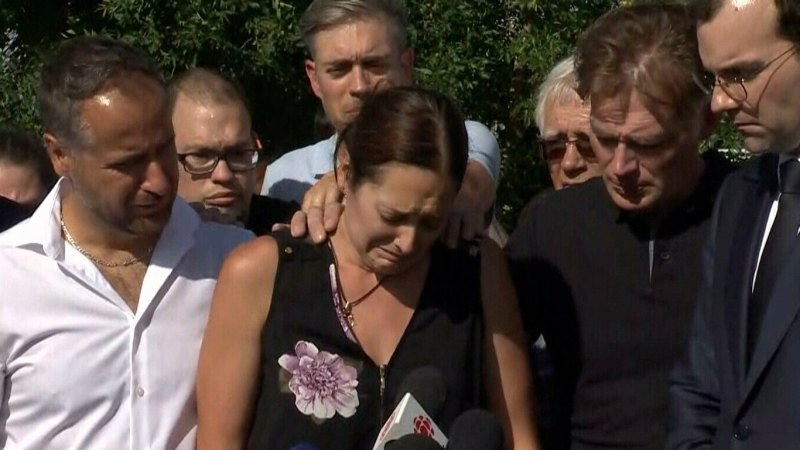 Mother makes emotional statement