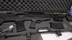 One of the guns seized by police. (Calgary police)
