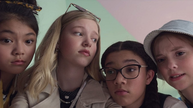 "Actor Sophie Grace, right, is seen in a still image from the new Netflix show ""The Baby-Sitters Club."""