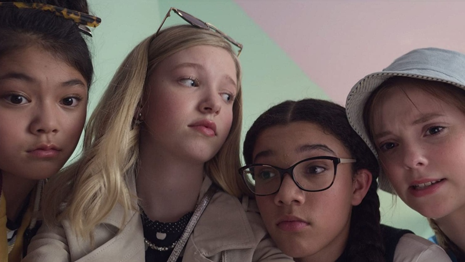 Actor Sophie Grace, right, is seen in a still image from the new Netflix show