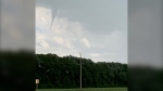 A funnel cloud spotted over Dauphin, Man., on July 13, 2020. (Submitted: Michael Rehaluk)