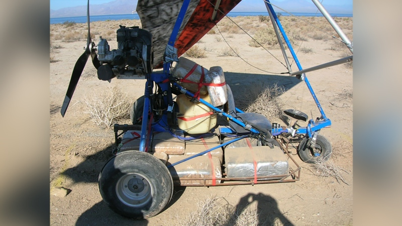 This image shows an example of the type of ultralight aircraft intercepted Saturday by CBP agents. (Customs and Border Protection via CNN)