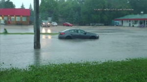Southern Manitoba was hit with a heavy storm on Monday night. (Source: Michelle-Claire Gendron)