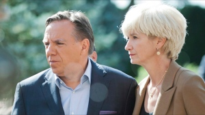 Quebec Premier Francois Legault and wife Isabelle Brais.