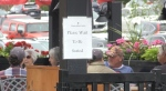 Please wait to be seated sign at a Sudbury restaurant. Jul. 13/20 (Molly Frommer/CTV Northern Ontario)