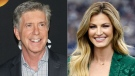 """This combination photo shows """"Dancing With the Stars"""" co-hosts, Tom Bergeron, left, and Erin Andrews who will not be returning to the popular celebrity dance competition series. ABC said in a statement that the show is looking to """"embark on a new creative direction."""" (AP Photo)"""