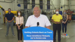 Premier Doug Ford at a media briefing in Cambridge on July 14, 2020.