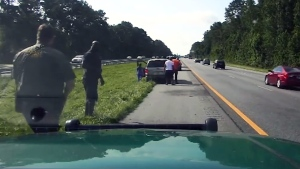 Shaq stops to help driver after highway crash