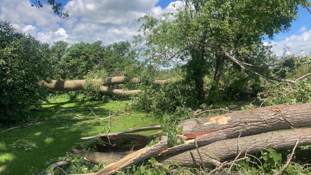 Manitoba storm damage