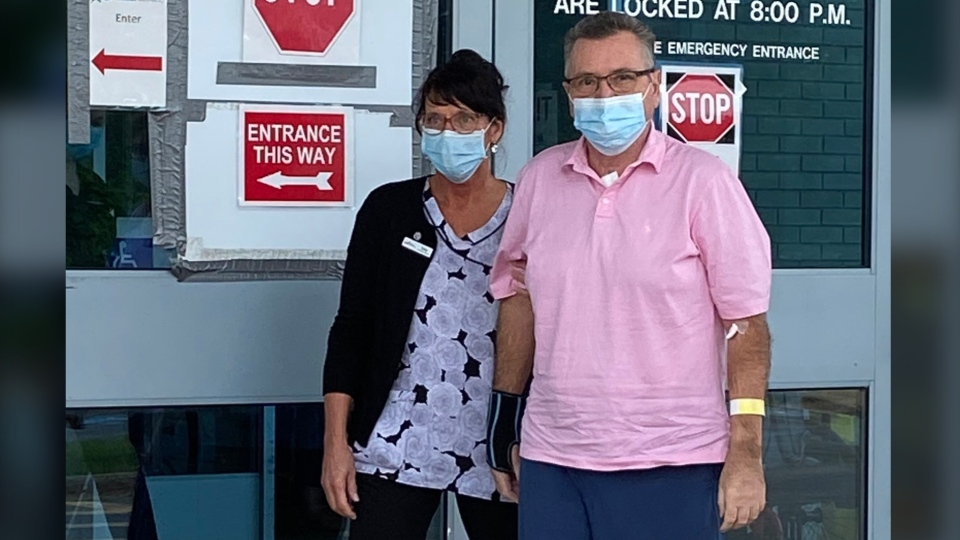 Al Poirier and his wife Deborah Poirier both tested positive for COVID-19 after returning from a cruise earlier this year. (CTV ATLANTIC / TODD BATTIS)