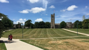 The campus of Western University is seen in London, Ont. on Tuesday, July 14, 2020. (Bryan Bicknell / CTV News)