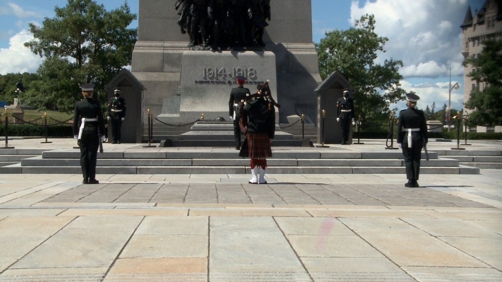 Sentries at National War Memorial