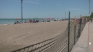 Many headed to Wasaga Beach for the first weekend that saw increased police presence following a recent rise in violence (Kraig Krause/CTV News Barrie)