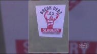 Police investigating white supremacist stickers