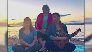 Tonight's closing song was sent in by three Sault-area women who clearly had a nice day at the beach.