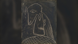 "Pablo Picasso's portrait ""Tête de femme"" is seen in this photograph provided by Heffel Fine Art Auction House."
