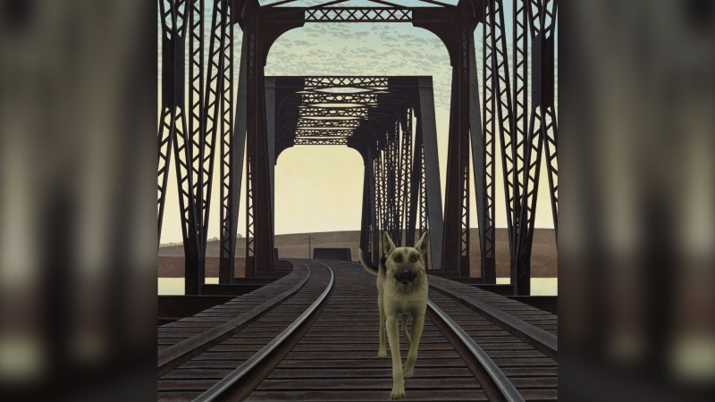 "Alex Colville's ""Dog and Bridge"" is seen in this photograph provided by Heffel Fine Art Auction House."