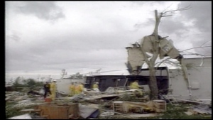20 years ago, an F3 tornado ripped through the Green Acres Campground in Pine Lake, Alberta, killing 12, injuring more than 100 and destroying buildings, trailers, vehicles and trees