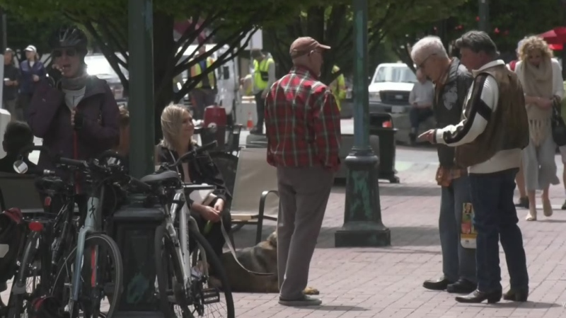 The Downtown Victoria Business Association is calling for islanders to support local businesses, as unemployment levels soared in June.