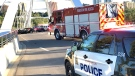 One person is dead after a serious collision on the Walterdale Bridge. Tuesday July 14, 2020 (Sean Amato/CTV News Edmonton)
