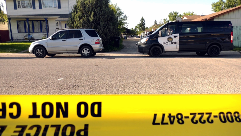 Police arrested three people in north Calgary after the shooting