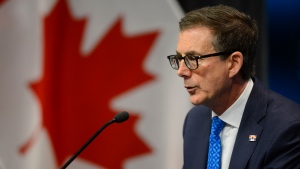 Bank of Canada Governor Tiff Macklem holds a press conference at the Bank of Canada in Ottawa on June 22, 2020.  (Sean Kilpatrick / THE CANADIAN PRESS)