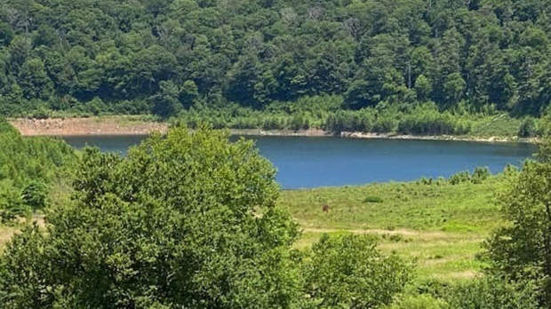 """Mountain Lake in Virginia, made famous by """"Dirty Dancing,"""" is filling back up after being dry for over a decade. (Courtesy Mountain Lake Lodge)"""