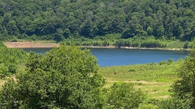 "Mountain Lake in Virginia, made famous by ""Dirty Dancing,"" is filling back up after being dry for over a decade. (Courtesy Mountain Lake Lodge)"