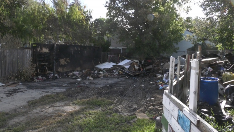 A detached garage in the 200 block of 14 Street N was destroyed by a July 12 fire that was believed to be deliberately set