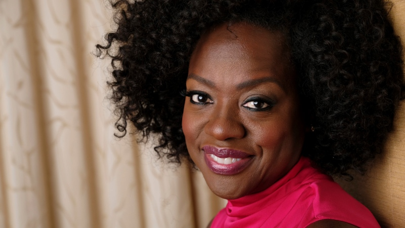 Viola Davis poses for a portrait at the Ritz-Carlton Hotel during the Toronto International Film Festival in Toronto, on Sept. 9, 2018. (Chris Pizzello / Invision / AP)
