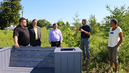 Officials visited a new wetlands project in Chatham-Kent, Ont. on Tuesday, July 15 2020 (courtesy Municipality of Chatham-Kent)