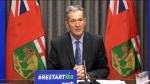 Premier Brian Pallister speaks at a news conference at the Manitoba legislature on July 15, 2020. (CTV News Photo Glenn Pismenny)